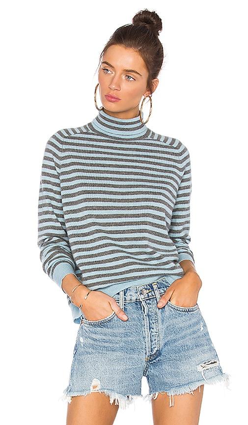360CASHMERE Erika Striped Sweater in Gray