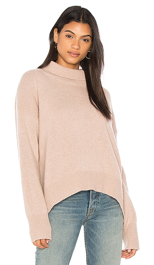 360CASHMERE Olive Turtleneck Sweater in Rose