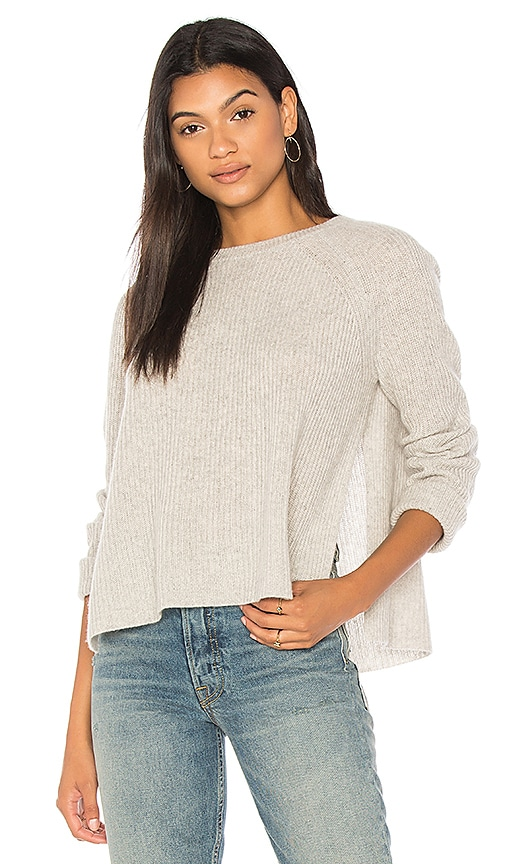 360CASHMERE Bianca Cashmere Pullover in Gray