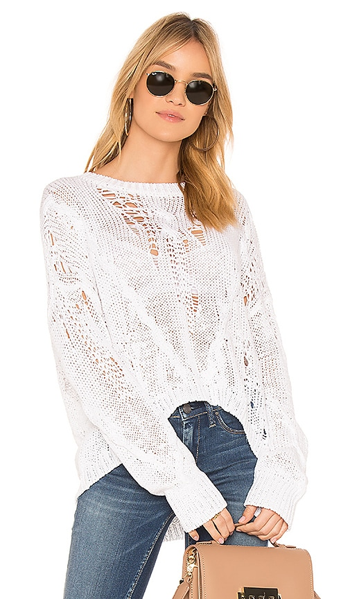 360CASHMERE Ethel Sweater in White