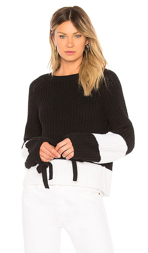 360CASHMERE Lilah Sweater in Black & White