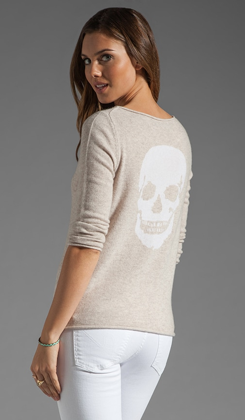 Jackie Lee Skull Cashmere Sweater