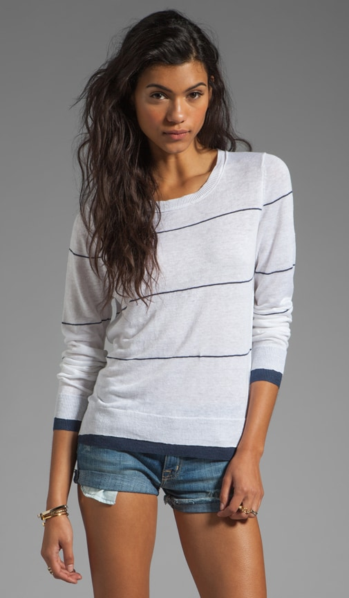 Grace Linen Stripe Sweater