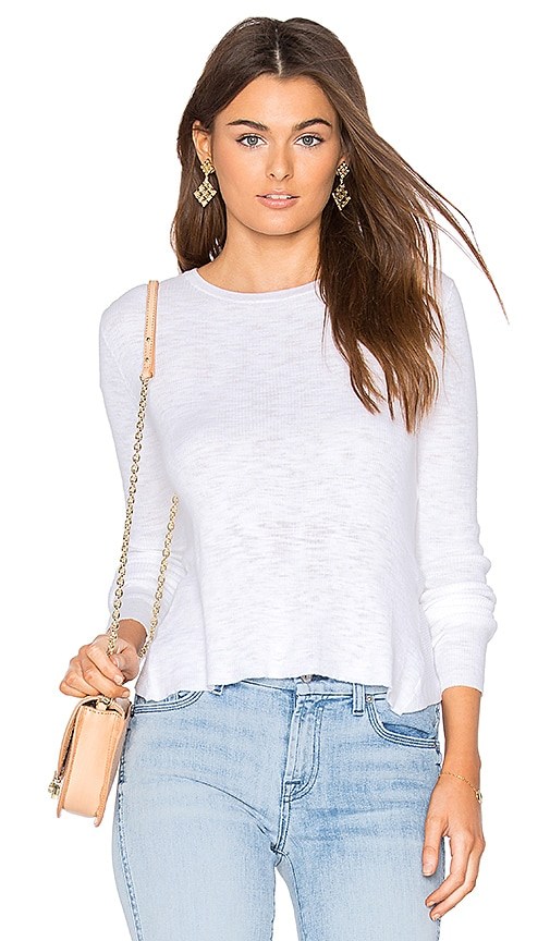 360 Sweater Marvia Crossback Top in White