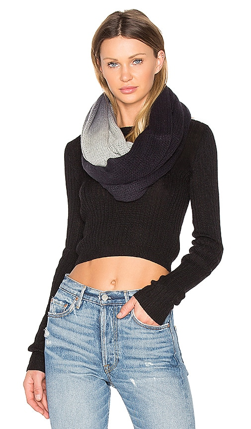 360 Sweater Gracen Infinity Scarf in Gray