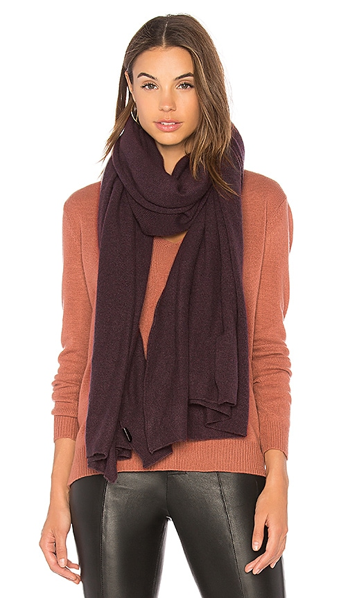 360CASHMERE Linus Scarf in Charcoal