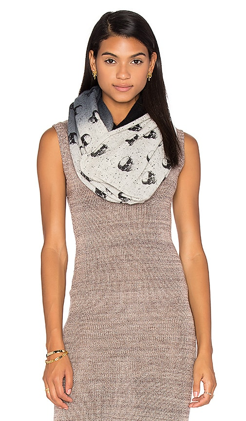 360 Sweater Cashmere Skull Infinity Scarf in Black