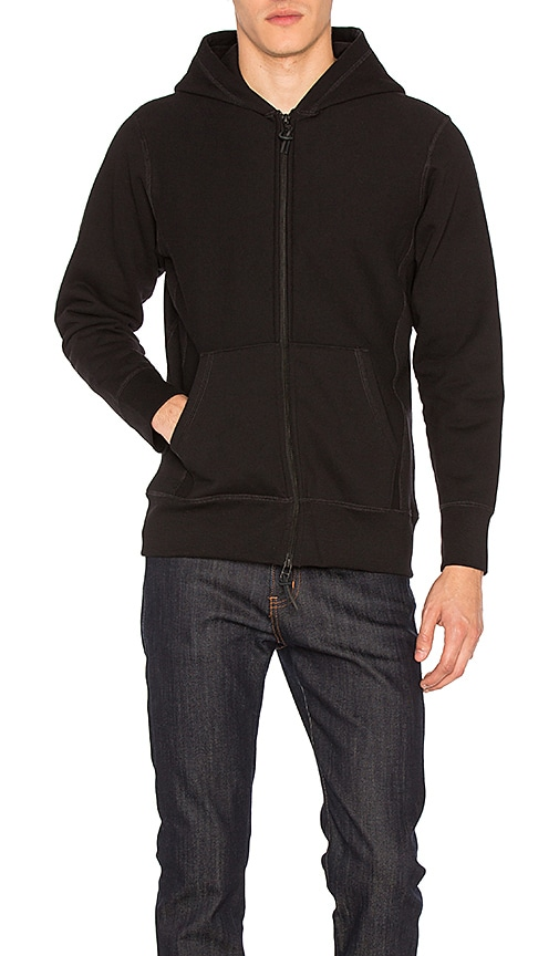 3sixteen Heavyweight Hoodie in Black