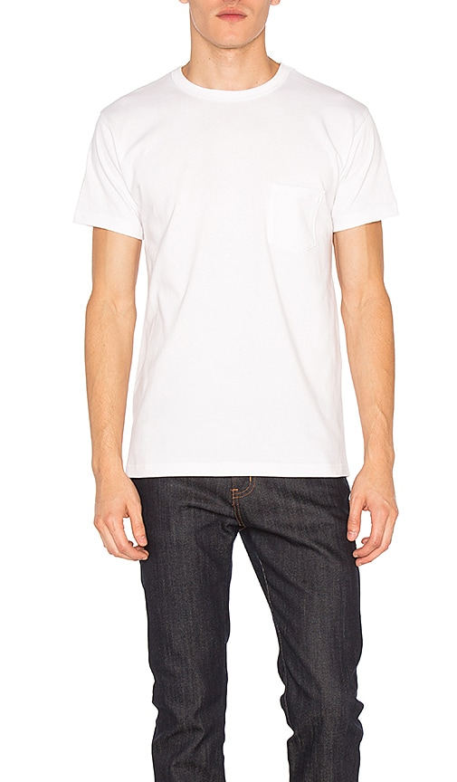 3sixteen Heavyweight Pocket Tee 2 Pack in White