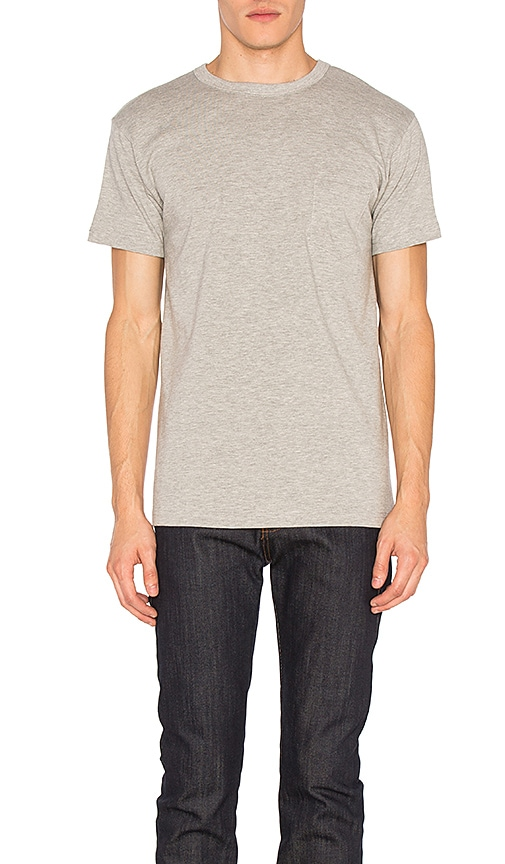 Heavyweight Pocket Tee 2 Pack in Gray. - size S (also in L,XL) 3sixteen
