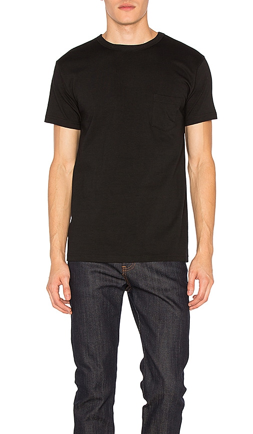 3SIXTEEN Heavyweight Pocket Tee 2 Pack in Black