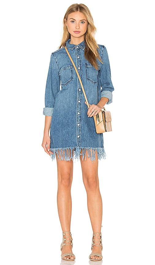 3x1 Fringe Shirt Dress in Marine