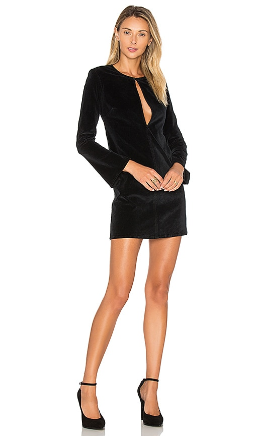 3x1 Bell Sleeve Velvet Dress in Black