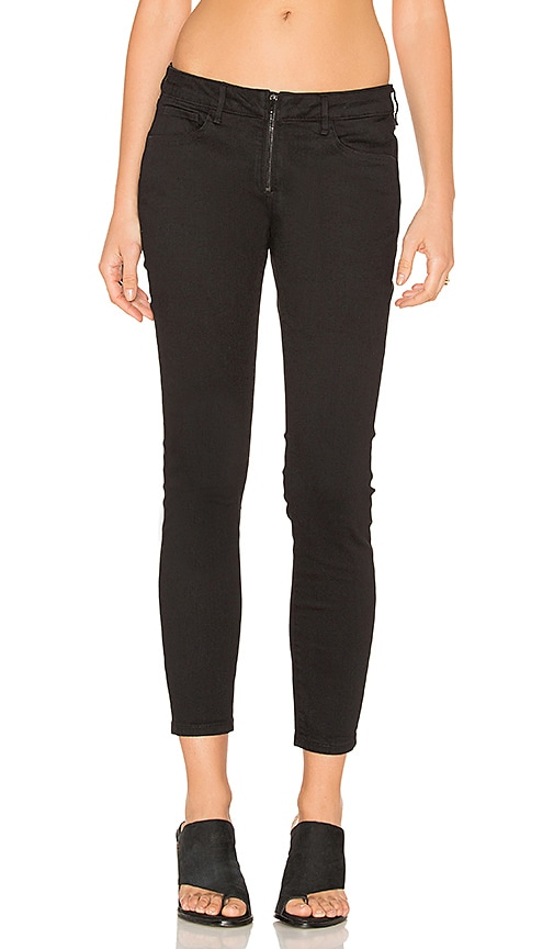 3x1 Zip Fly Crop Skinny in Black Rinse