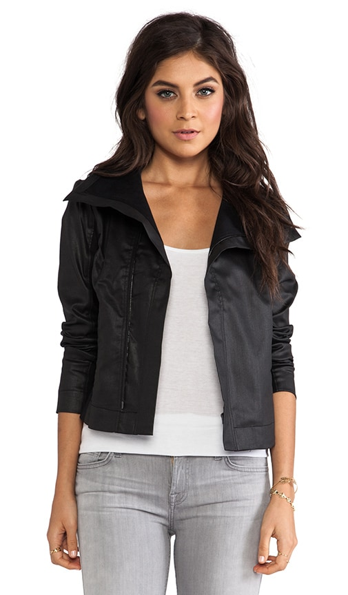 Moto Coated Zip Jacket