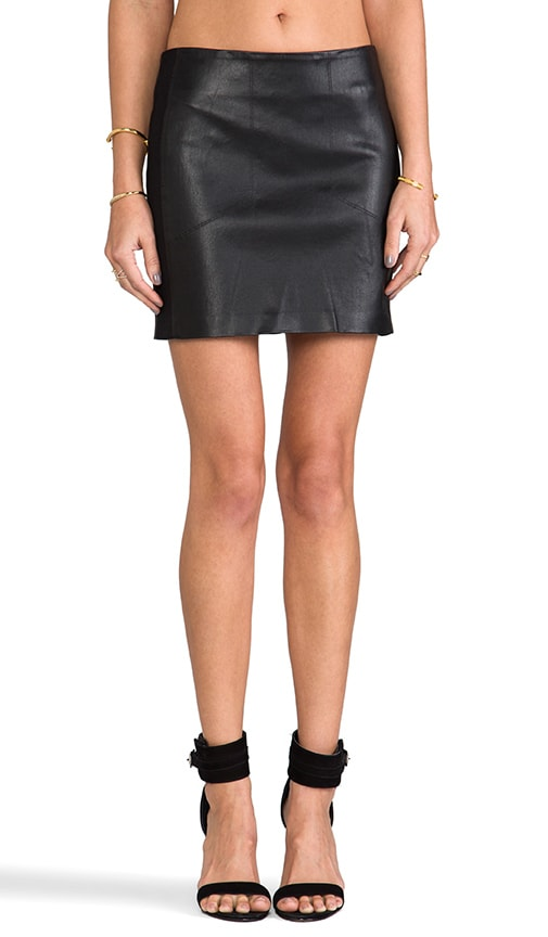 WS Moto Mini Skirt
