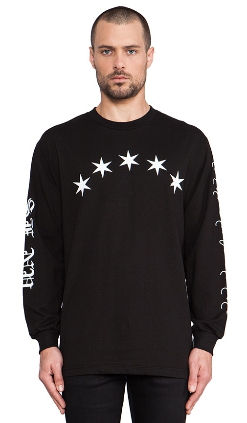 Six Pointed BLVCK Long Sleeve Tee