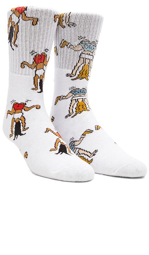 2-Pack White Girl Twerk Socks in White, Twerk Original Socks