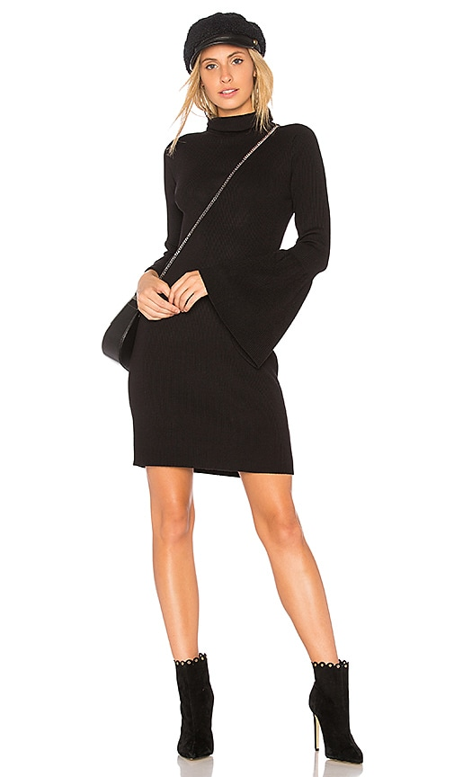 525 america Rib Tulip Sleeve Dress in Black