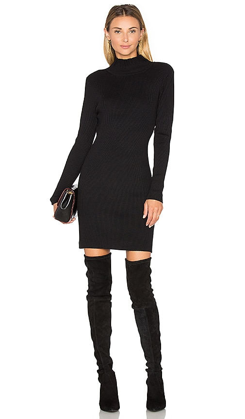 525 america Rib Sweater Dress in Black