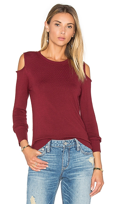 525 america Open Shoulder Sweater in Red