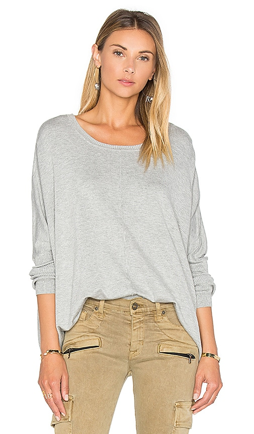 525 america Crew Neck Box Sweater in Gray
