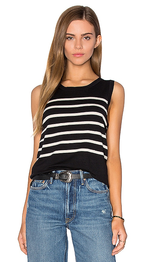 525 america Parisenne Stripe Sweater Vest in Black