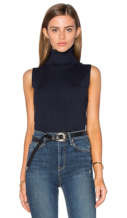 525 america Sleeveless Turtleneck Sweater in Navy