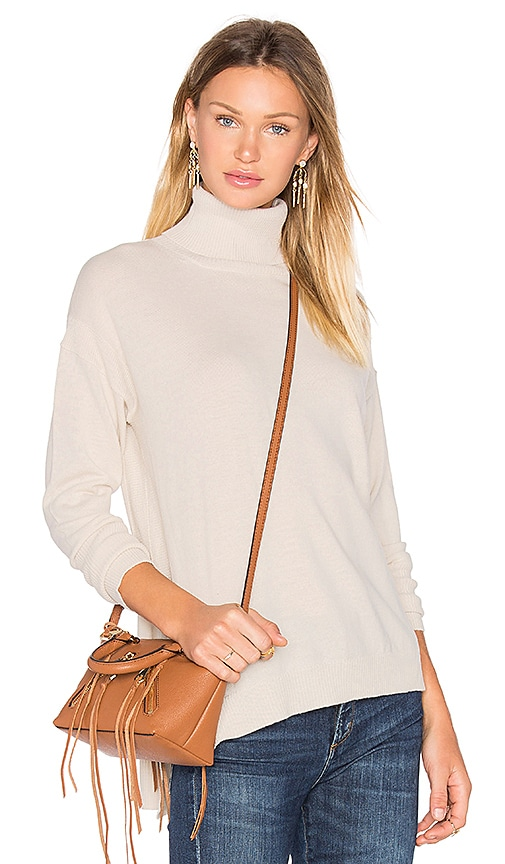 525 america Side Slit Sweater in Beige