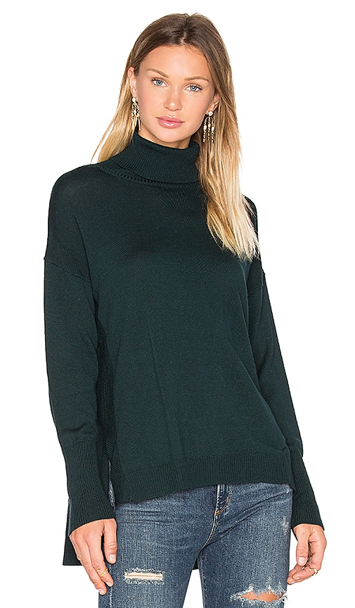 525 america Side Slit Sweater in Green
