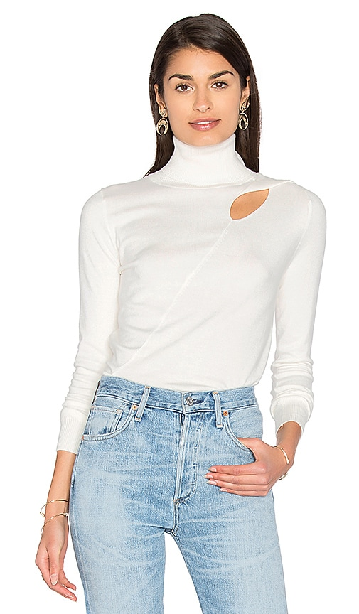525 america Cut Out Sweater in White