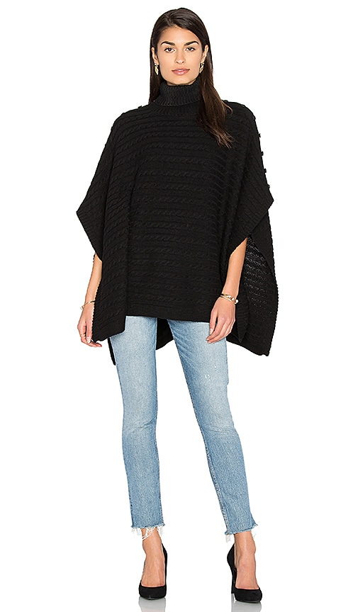 525 america Turtleneck Poncho in Black