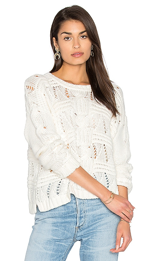 525 america Cable Knit Sweater in White