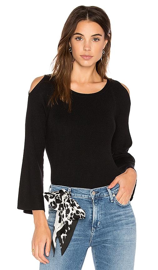 525 america Cut Out Shoulder Sweater in Black