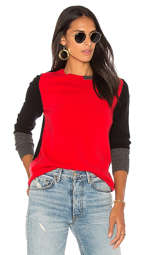 525 america Colorblock Pullover in Red