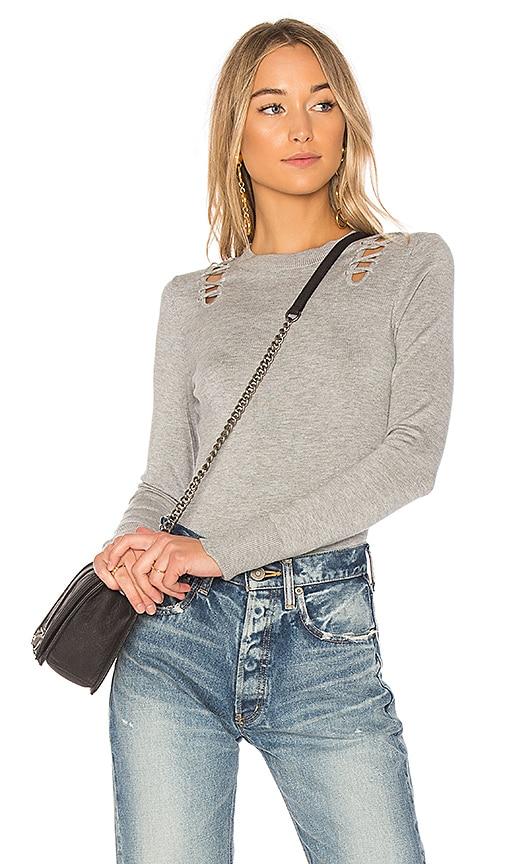 525 america Cutout Sweater in Gray