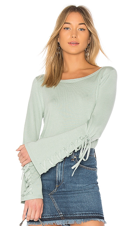 525 america Laced Sleeve Sweater in Sage