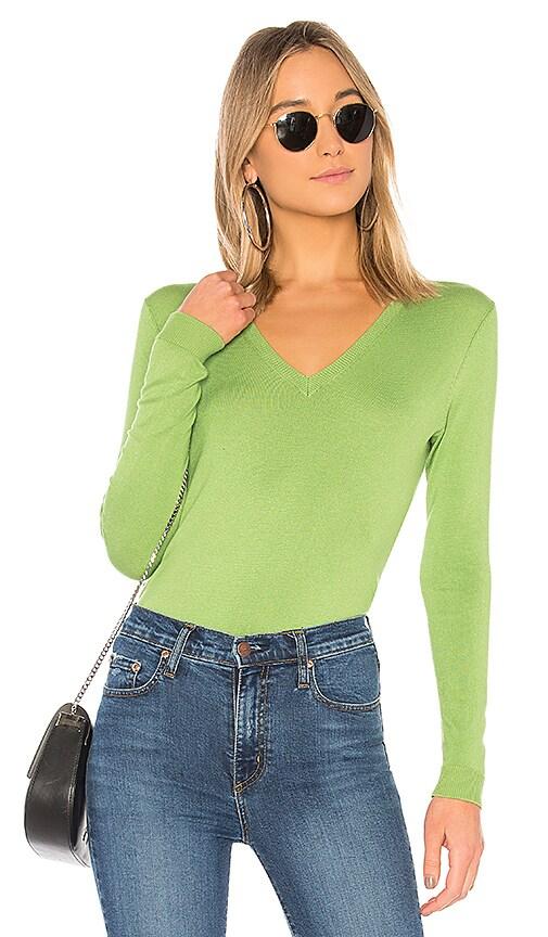 525 america V-Neck Pullover in Green