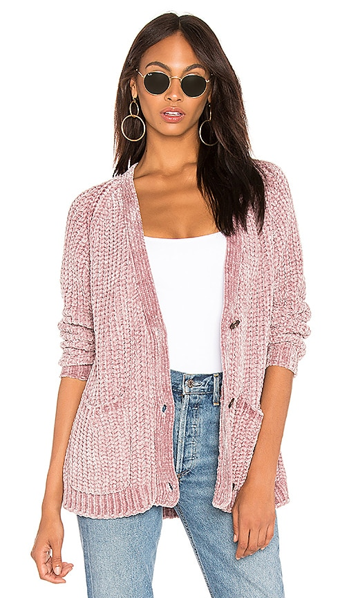 Bouncy Chenille Cardigan