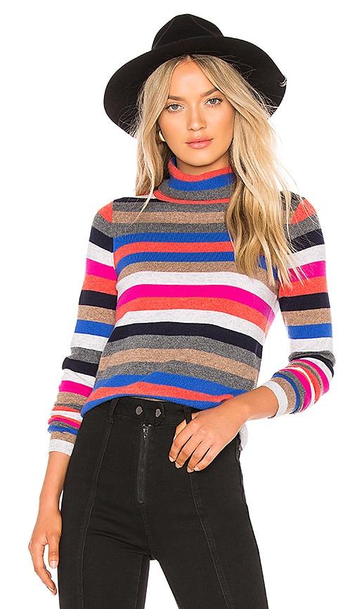 Cashmere Striped Turtleneck