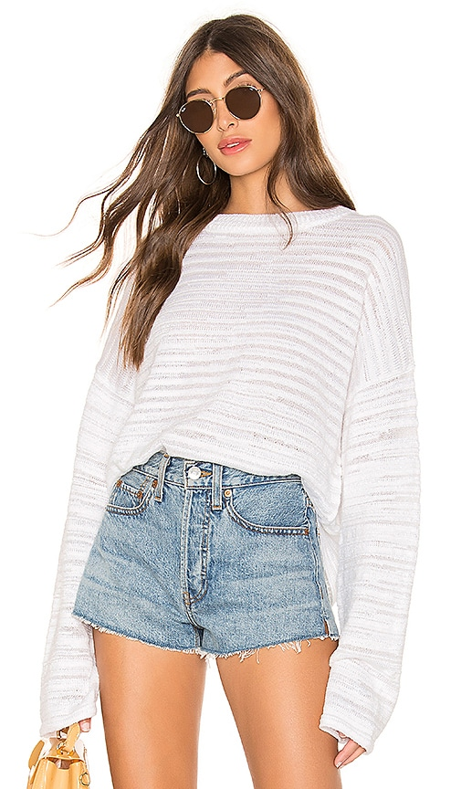 Cropped Kimono Sleeve Pullover