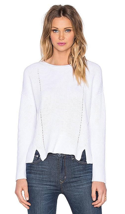 525 america Crew Neck Crop Sweater in White