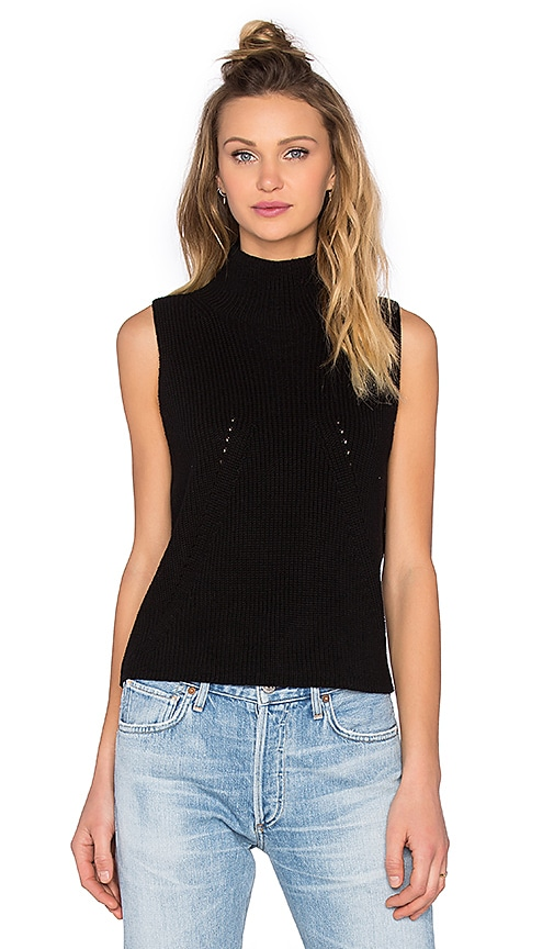 525 america Turtleneck Sleeveless Sweater in Black