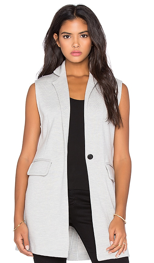 525 america Double Knit Sleeveless Blazer in Light Heather Grey