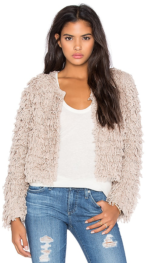 525 america x REVOLVE Crop Fringe Jacket in Buff