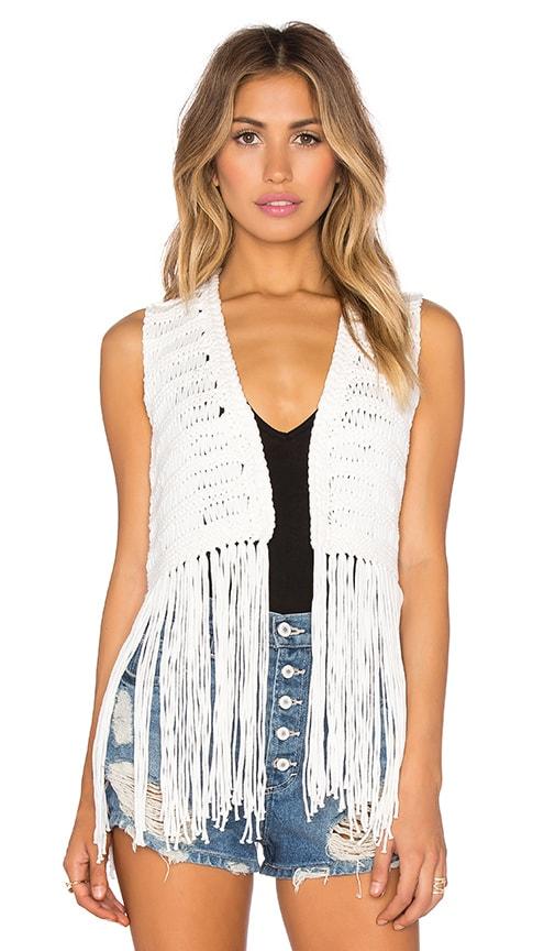 Open Fringe Vest