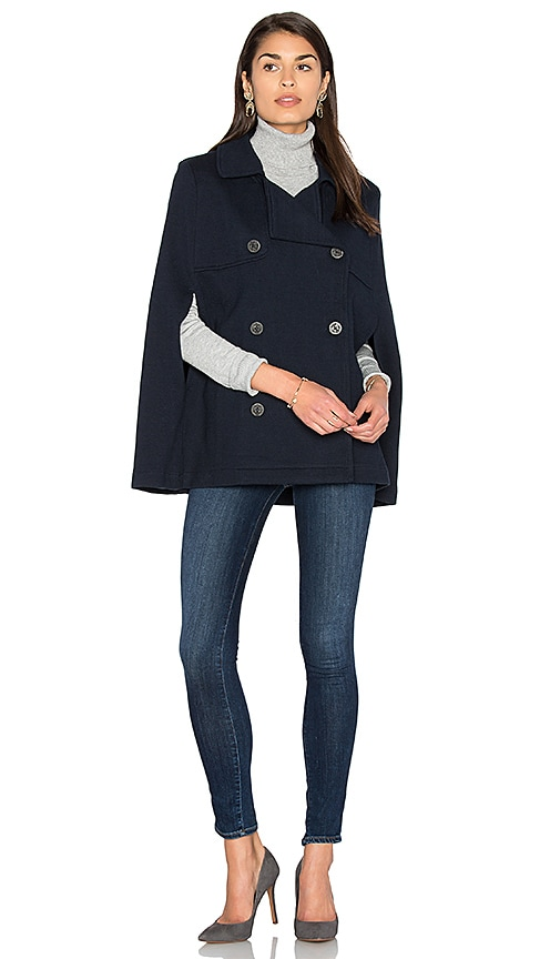 d9abbd2792 525 america Poncho Peacoat in Classic Navy