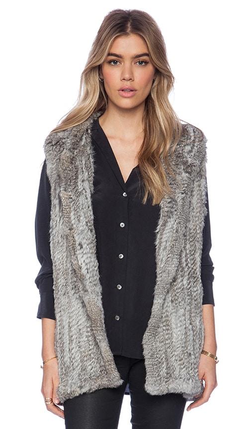 Rabbit Fur Hooded Vest