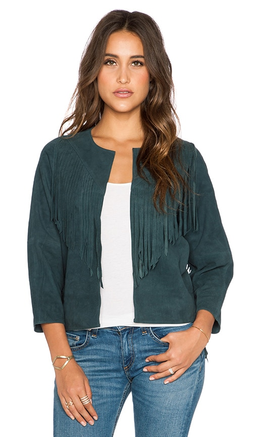 525 america Fringe Jacket in Slate