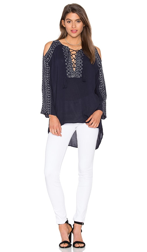 525 america Embroidered Tunic in Navy